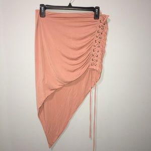 Pink Fitted Sexy Asymmetrical Skirt Corset Nova